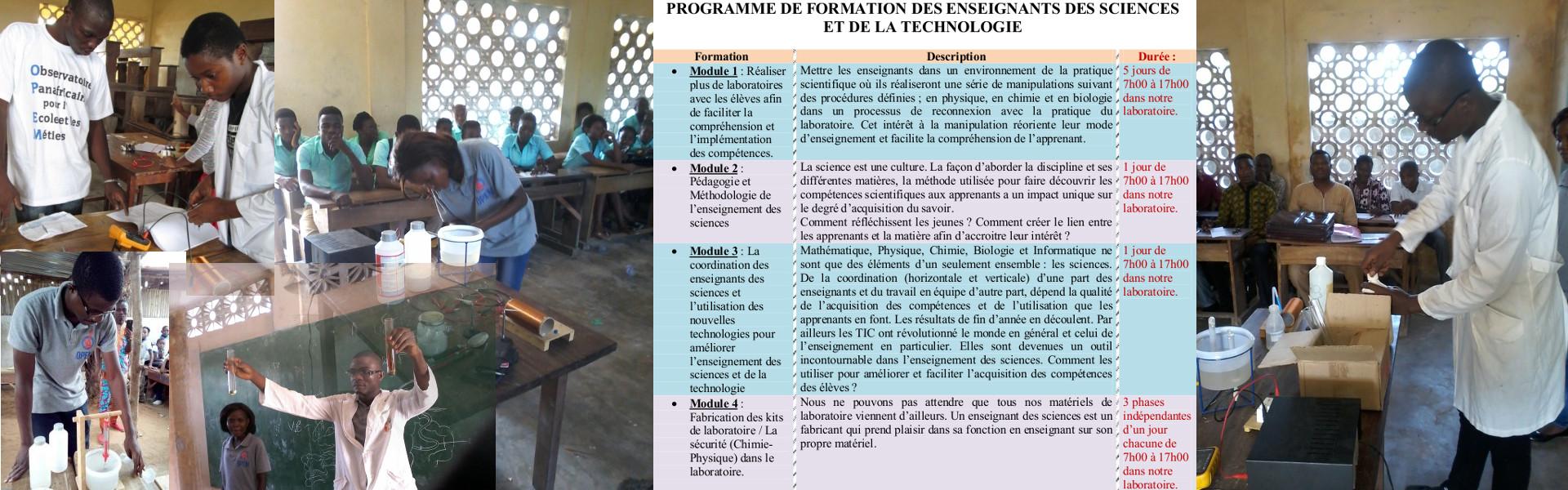 Stage de Formation pratique en laboratoire pour les professeurs de sciences (Juillet - Août 2017)